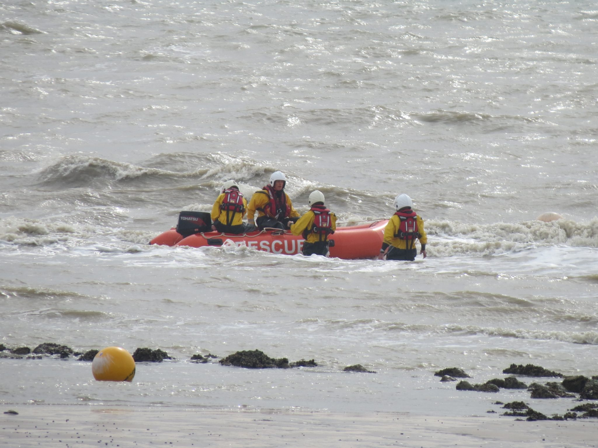 Today's training … low tide, high risk manoeuvres!