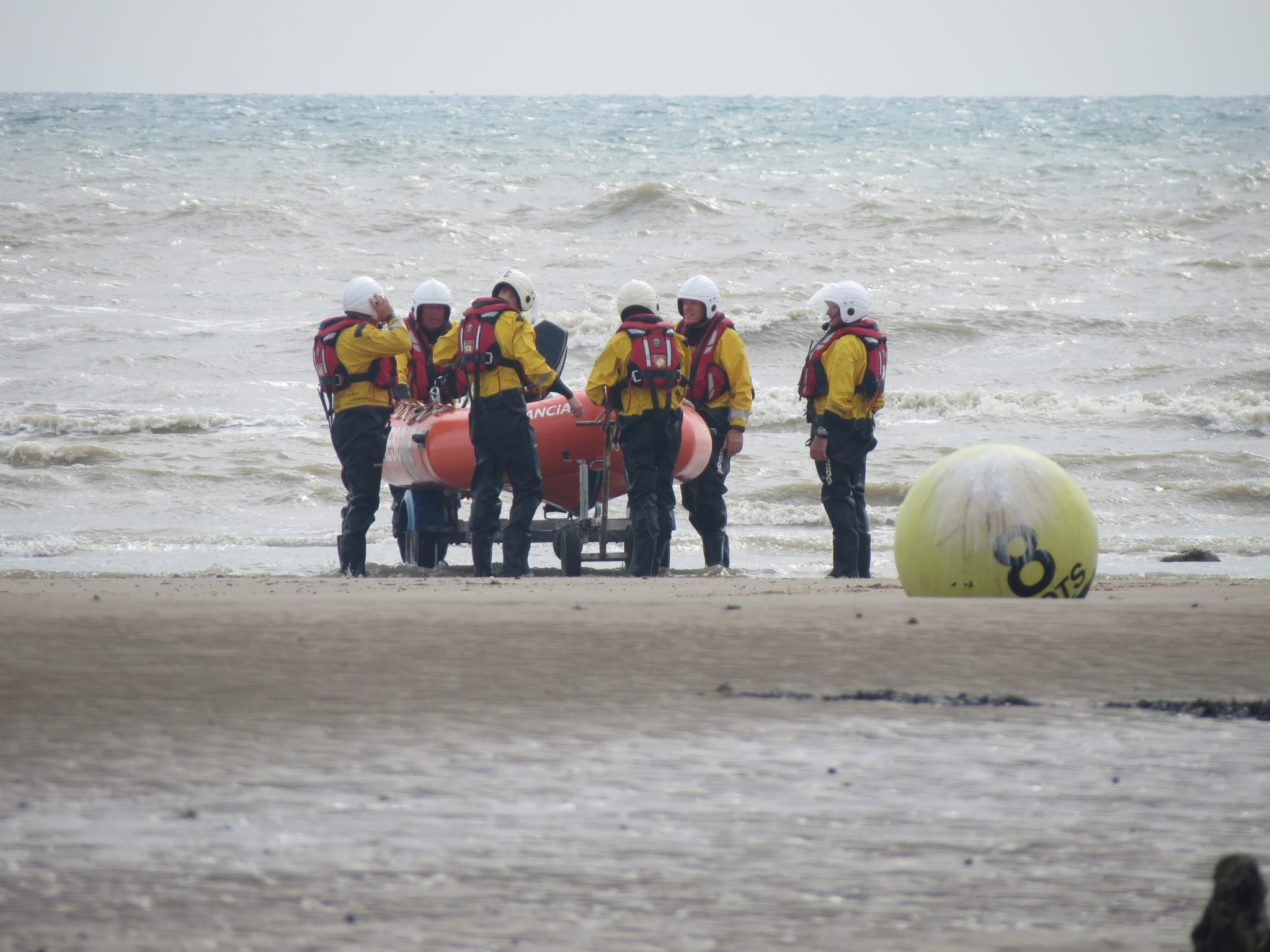 Uploading Tornado rescue boat to trailer