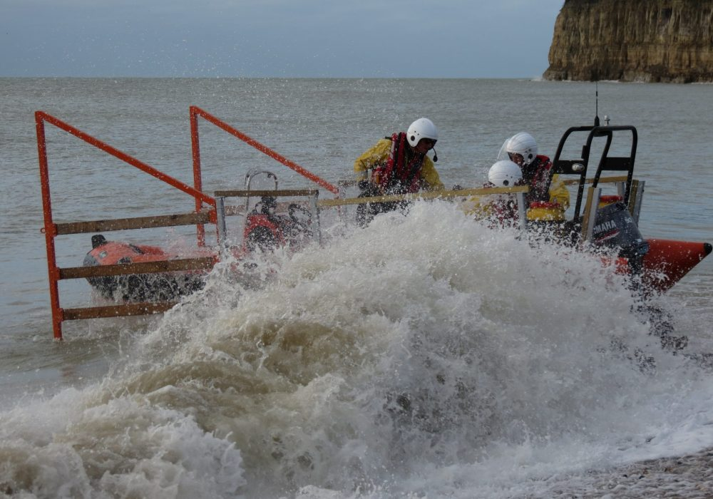 rescue boat launch, tractor, trailer