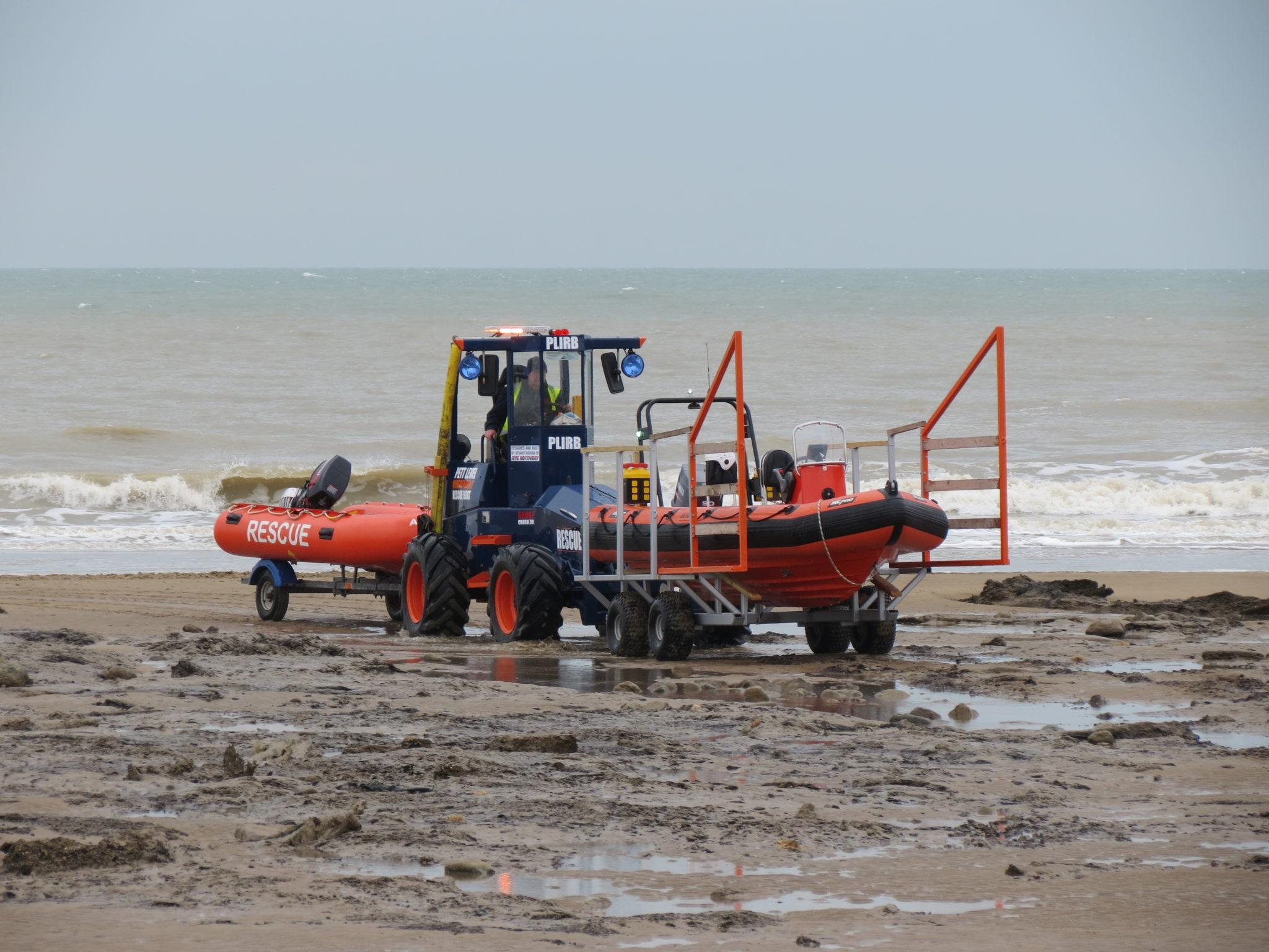 Low tide double boat launch