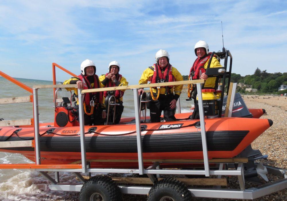 Tony Heath, equipment donation, boat visit