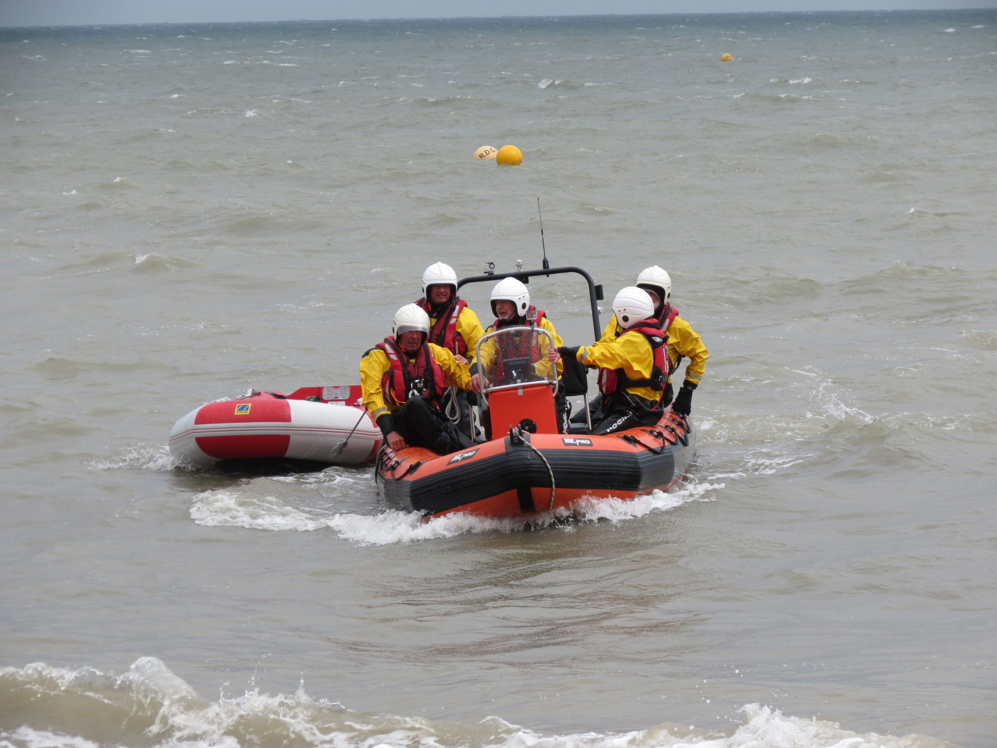 Open Day, sea display, towing, return to shore