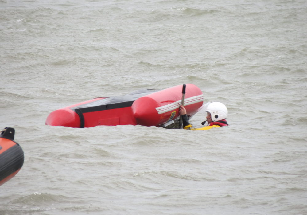 Open Day, sea display, capsize exercise