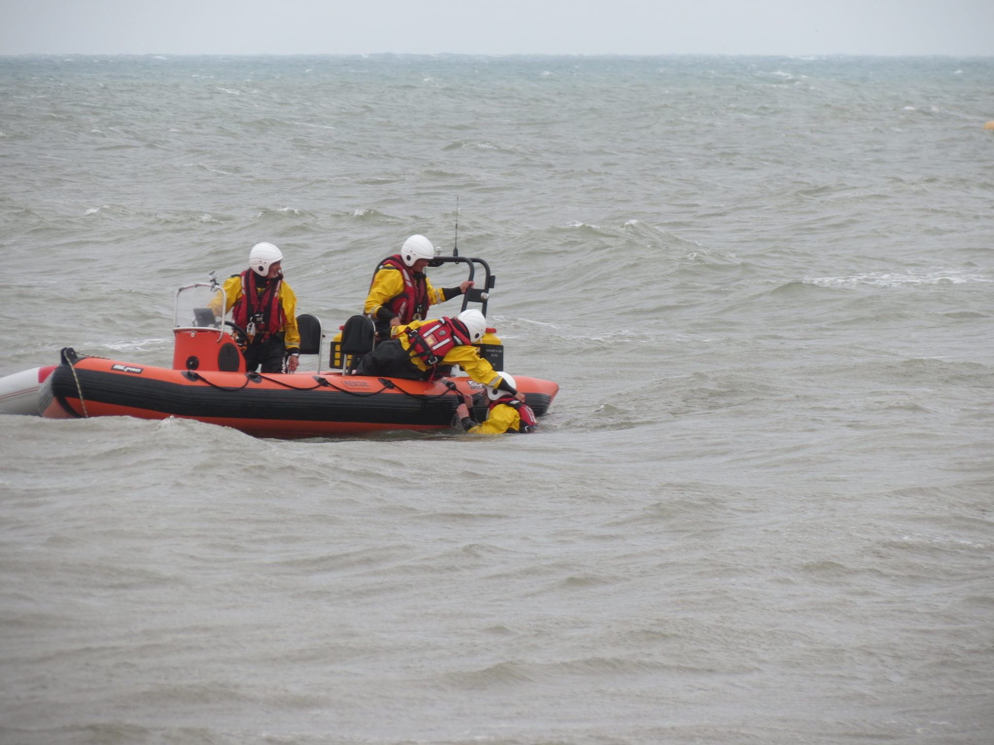 Open Day, sea display, back into boat