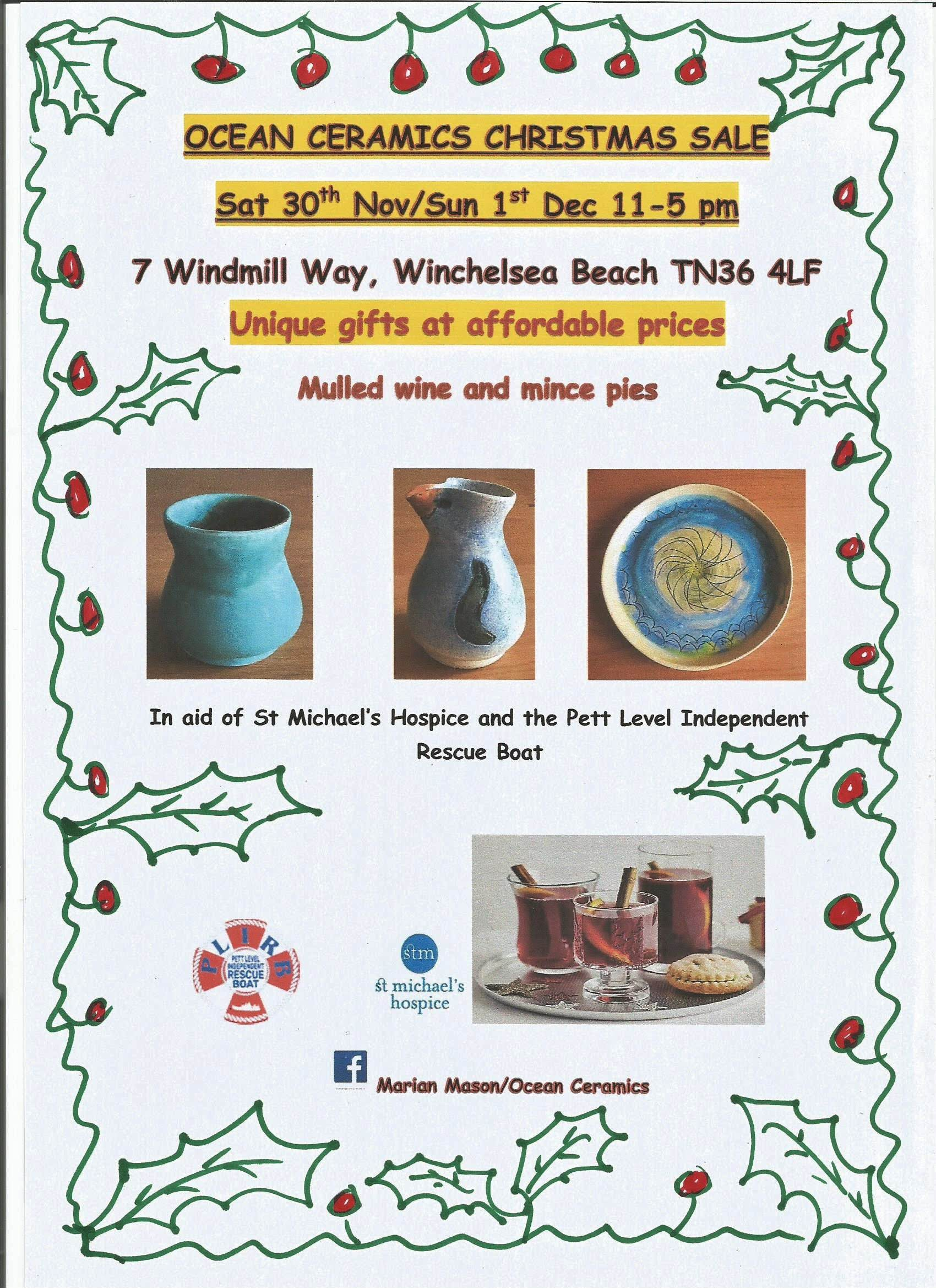 Support from the Community – Ocean Ceramics, Winchelsea Beach