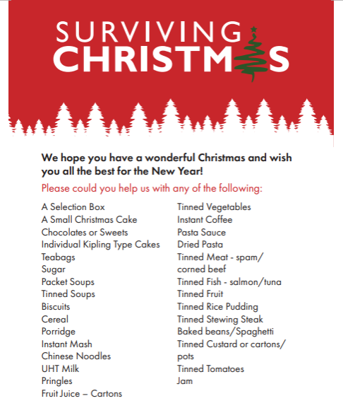 Supporting the Community – Surviving Christmas Collection Point
