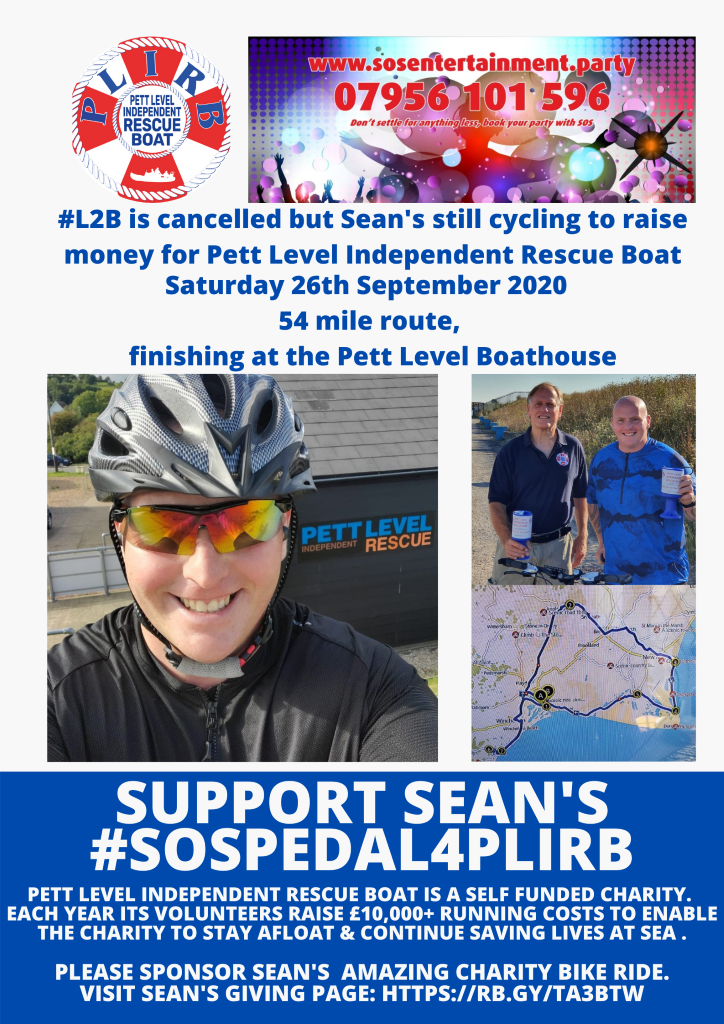 Sean's Bike Ride for PLIRB Charity – New Date