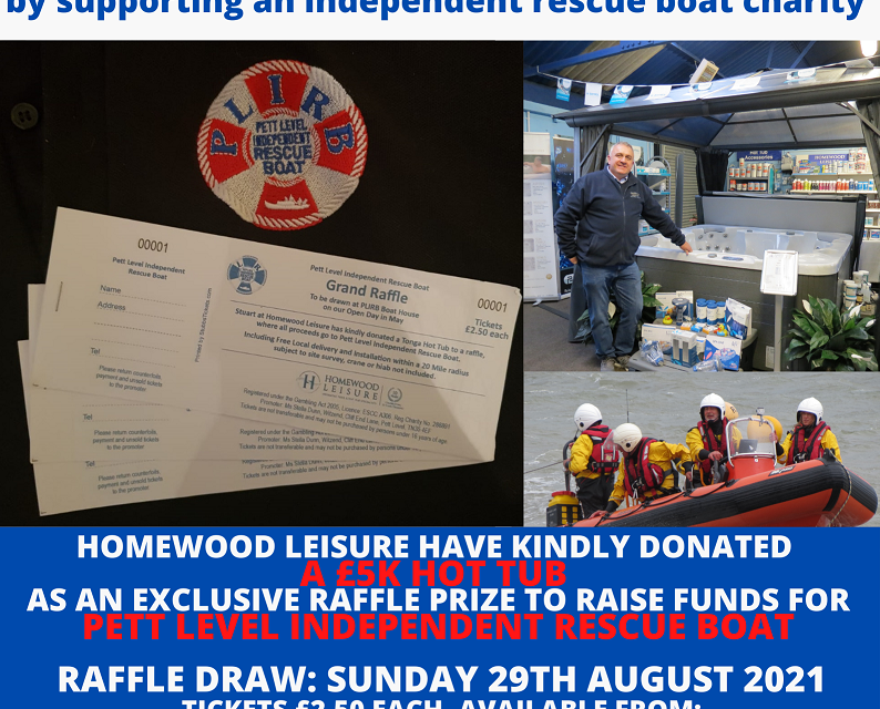 Our 2021 Charity Raffle is Afloat – Thanks to Homewood Leisure
