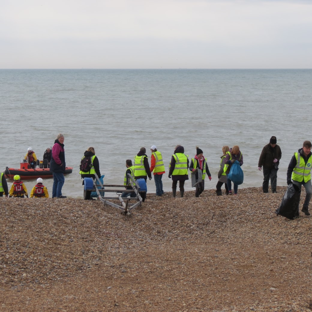 volunteers collaborated to clean the beach