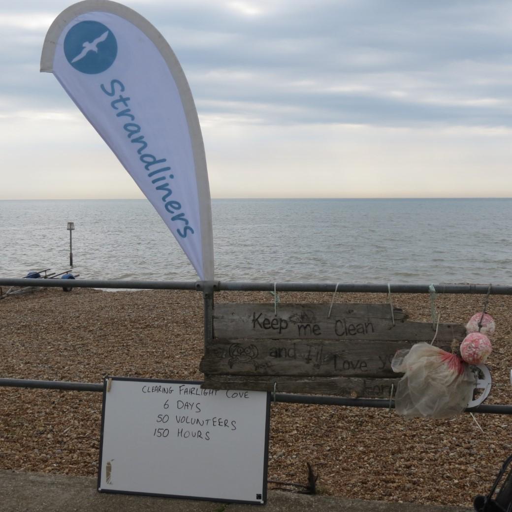 volunteers time at beach clean up