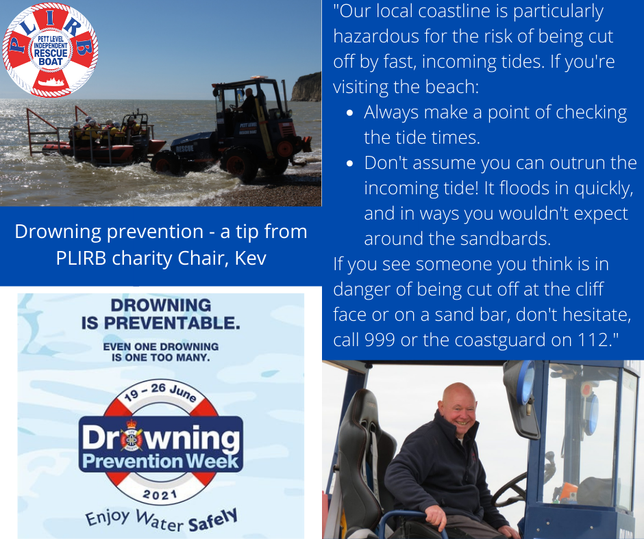 RLSSUK Drowning Prevention Week, PLIRB