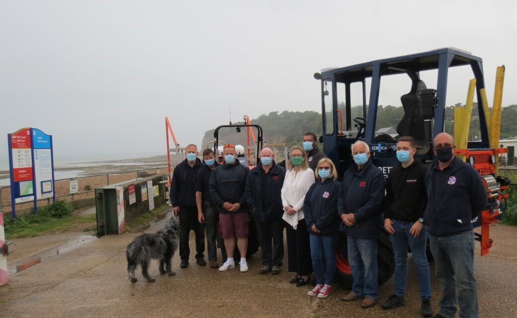 Local MP Visit & Support For Independent Rescue Boat Charities